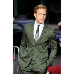 $enCountryForm.capitalKeyWord Australia - Classic design green groom dress terno masculino 2019 best man two button lapel best wedding men's suit (coat+pants+tie)