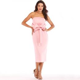 62fbc8983ab4 Drop Off Shoulder Dress Casual UK - Sexy Off Shoulder Pink Party Dress  Ruffled Sheath Bodycon