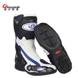 bikers boots UK - Professional Men's Speed Motorcycle Boots BIKERS Racing motocross boots motobotinki motorcycle shoes motorboats B1002