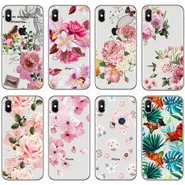 $enCountryForm.capitalKeyWord Canada - [TongTrade] Soft Silicone TPU For iPhone X 8 7 6s 5s Plus Case Cover Small Fresh Floral Coloured Painting Galaxy S9 S8 S7 S6 Edge Plus Case
