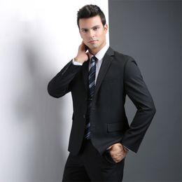 Beige Slim Suits For Men Australia - 2018 Custom Made Men Suit 2pcs Business Suit Brand Smart Casual Tuxedo Large Size Grooms Wedding Suits For Man Slim Fit Groomsman Prom
