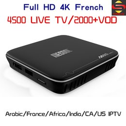 M8s Android Tv Boxes Australia - World IPTV 4500 Channels M8S PRO+ S905X Android 7.1 WIFI TV Box +Europe Arabic French Italy USA Canada M3U Smart Tv Box