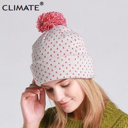 f0dc7e8f5be CLIMATE Women Autumn Winter Warm Beanie Hat Lady Nice Soft Pretty Warm Pom  Poms Pompom Knitted Hat Beanies Cap For Women Girls