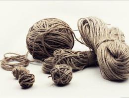 Venta al por mayor de Cuerda decorativa, lino, material de punto, etiqueta, embalaje, encuadernación, cuerda fina, cuerda de cáñamo hecha a mano, cuerda de cáñamo DIY.