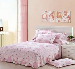 Discount bedding for queen size beds - 1pcs Bed Skirt cotton With Elastic band bed spread bedclothes for all size twin full queen size for room bedding