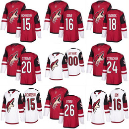 jersey christian NZ - 2017-2018 Season 15 Brad Richardson 16 Max Domi 18 Christian Dvorak 20 Dylan Strome 21 Derek Stepan Arizona Coyotes Custom Hockey Jerseys