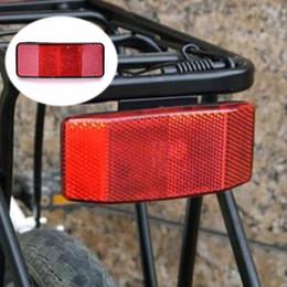 Discount reflective board - Back Reflective Board Mountain Bike MTB Bicycle Rack Tail Safety Caution Warning Reflector Disc Cycling Bike Rear Panier
