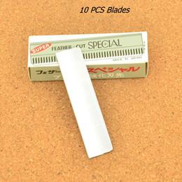 $enCountryForm.capitalKeyWord NZ - Professional 10 PCS Stainless Steel Dedicated Scraping Eyebrow Shaping Eyebrows Razor Blades Hair Styling Beauty Makeup Shaving Knife HD0002