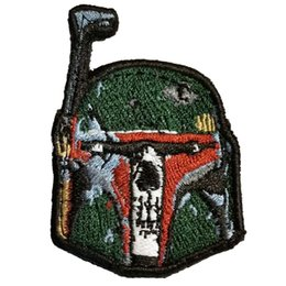Punk Motorcycle Jacket Australia - Boba Fett Skull Patch Embroidered Motorcycle Applique Badge Embroidery Patch Biker Punk Parch on Clothing for Jacket Backpack