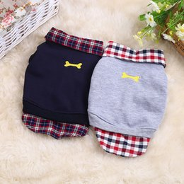 $enCountryForm.capitalKeyWord NZ - Dog Sweatshirt Pet Dog Clothes For Small Dogs Chihuahua Coat Pet Clothes Plaid Puppy Clothing Outfit POLO Shirt hondenkleding