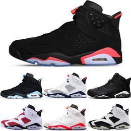 soccer boots online 2019 - Men 6 6s Basketball Shoes UNC Tinker Black Cat Gatorade White Infrared Carmine Maroon Oreo Trainer Sport Sneaker Size 41