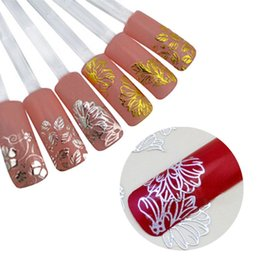Stamp Paper Sticker Australia - 24 Models 3D Stamping Nails Art Pattern Tattoo Paper Sticker Decals DIY Manicure Beauty Tool Hot