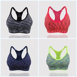SeamleSS yoga ShortS online shopping - Straps Padded Top Sports Bras Lovely Elastic Force Wireless Fitness Vest Seamless Fast Drying Shockproof Non Slip Yoga Outfits mm jj