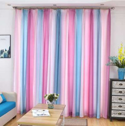 Colorful Rainbow Beautiful Semi Blackout Window Treatments For Living Room Red Tulle Sheer Curtain Elegant Rideaux Salon Draps