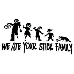 Chinese  We Ate Your Stick Family Zombies Window Funny Decal Motorcycle Car Sticker Fashion Personality Creative Vinyl manufacturers