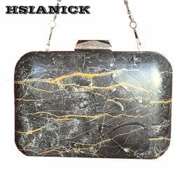 Discount handbag designs patterns - 2017 New Fashion PU Bolsa Feminina Stone Marble Pattern Design Women Black Square Box Clutch Party Bag Evening Bag Chain