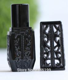 $enCountryForm.capitalKeyWord NZ - 50pcs lot Black Retro Hollow Style Cute Lip Balm Container, Empty Elegant DIY Lipstick Packaging Bottle, Square Beauty Tool
