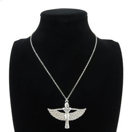 "Egypt Pendants Australia - HOT Sale Egyptian Goddess Isis Ancient Egypt God Winged 18"" Collar Short Choker Necklace & Pendants"