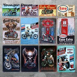car plaque 2019 - Vintage Metal Tin signs ESSO Extra Gasoline Metal Plaque Motorhead Car Garage Home Decor Bar Club Wall Art Painting Plat