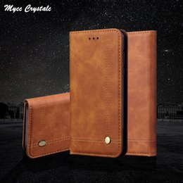 $enCountryForm.capitalKeyWord Canada - For Oneplus 6T Case 6.4 inch Vintage Flip Genuine Leather Case For Oneplus 6T A6013 Retro Wallet Cover With Card Slot Coque