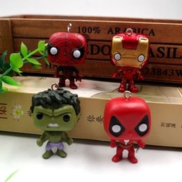 $enCountryForm.capitalKeyWord NZ - Funko Pop Marvel Super Hero Keychain Figure Deadpool Captain America The Walking Dead Game of Thrones Hulk Spiderman