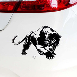 Hunting stickers online shopping - 20 CM Wild Panther Hunting Car Body Decal Car Stickers Motorcycle Decorations Black White