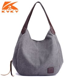 9895588ff6 Canvas Ladies NZ - Canvas Bag Vintage Canvas Shoulder Bag Women Handbags  Ladies Hand Bag Tote