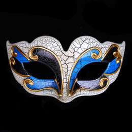 $enCountryForm.capitalKeyWord Australia - Cracked Half Face with Venetian Masquerade Mask for women Female Girl Fancy festive Party supplies Dress halloween costumes Hot