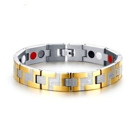 $enCountryForm.capitalKeyWord NZ - Drop shipping brand new top quality men's stainless steel bracelet magnets germanium bracelets hematite fashion jewelry factory supplier 115