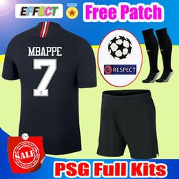 df248dea6 2019 PSG Third Black White Soccer Jerseys MBAPPE 3rd Kits 18 19 CHAMPIONS  LEAGUE CAVANI Paris 2018 Football Shirts Uniform Men Sets Socks