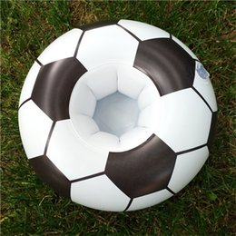 Seat beach online shopping - 2018 Russia World Cup Soccer Seat Coaster Inflation PVC Cartoon Pool Floating Saucer Water Kawaii Cups Holder Summer Beach Swimming jx Y