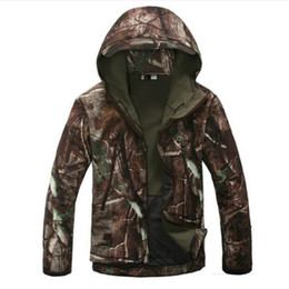 Discount lurker shark skin tactical jacket - Lurker Shark Skin Softshell V4 Tactical Jacket Men Waterproof Windproof Warm Coat Camouflage Hooded Camo Army Clothing