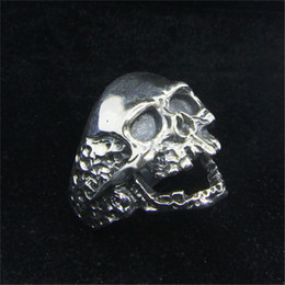 Men Size 15 Rings Australia - 1pc Free Shipping Size 7-15 Men Boys 925 Sterling Silver Cool Skull Ring Jewelry Newest S925 Fashion Demon Skull Ring