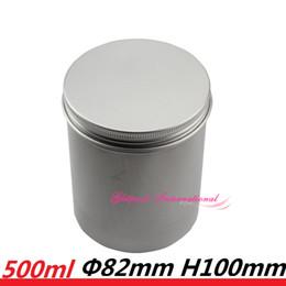 Jar свеча алюминиевый цилиндр 500 мл пустой круглый горшок бутылка 17oz 500 г большой размер винт топ стальной жестяные банки цилиндр для хранения порошка