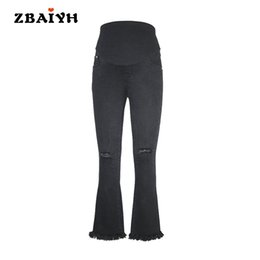 da5fc475e99f9 Maternity pants black hole skinny ripped jeans woman pregnancy pant summer  fashion pregnant women clothing Flares pants AYF-K008