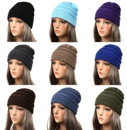 Knitted beanies for women online shopping - Winter Hats for Women Beanie  Female Hat Warm baggy 0cae8d69dce
