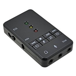 Tarjeta de sonido USB Adaptador de audio Sienoc USB 2.0 Virtual 7.1 Channel Xear 3D External para Windows XP 7 8 10 Linux Vista Mac OS