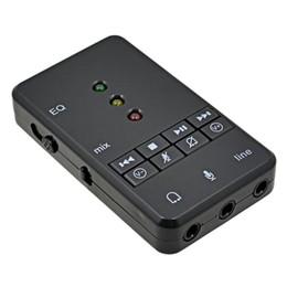 Toptan satış USB Ses Kartı Ses Adaptörü Sienoc USB 2.0 Sanal 7.1 Kanal Xear 3D Harici Windows XP 7 8 10 için Linux Vista Mac OS