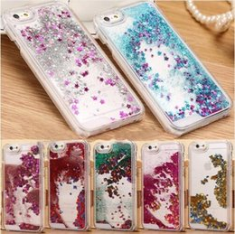 Chinese  For s6 Luxury Bling Sparkle Glitter Star Transparent Hard Case Cover for iPhone 5 6 Plus 6s 6s plus manufacturers
