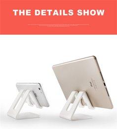 Handy Desktop Ständer Halter Silikon Anti-Rutsch-Tischhalterung Telefon Ständer für iPhone Samsung Tablet Ipad Tragbare Stander ABS mit Verpackung