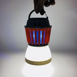 $enCountryForm.capitalKeyWord NZ - Mosquito Killer Lamp LED Camping Light Portable Lanterns Insect Trap Lamp Killer With Solar Panel Charging Pest Repeller Outdoor Garden