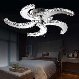 Beds for rooms online shopping - Modern Led crystal lights Crystal Chandelier Led Pendant Fan Ceilng Lights for living room bed room study room home