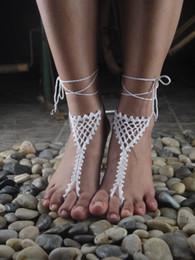 $enCountryForm.capitalKeyWord Australia - Dream network Wedding Lace shoes, Hand Crochet Barefoot Sandals, Women Sexy Beach Nude shoes Custom Color.