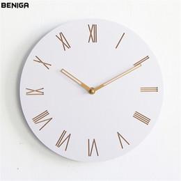 Vogue clocks online shopping - Minimalist Modern Roman Numerals Wall Clock Vogue European Luxury Graceful Round Silently Quartz Needle Wall Clock for Decor