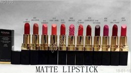 12 Colours Lipstick Australia - New Makeup Rouge Ultra Hydrating Lip Colour Matte Lipstick Lettering Logo Lipstick Have 12 Different Colors 3.5g