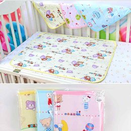 Hot Girls Diapers Australia - Hot Sale Baby Girls Boys Child Cotton Soft Cute Urine Pad Infant Diaper Waterproof Bedding Changing Cover Pad For Baby