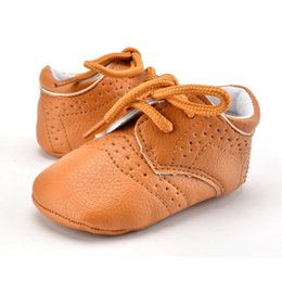 Soft Soled Shoes Australia - Wholesale Infant Baby Girl Shoes First Walkers Newborn Baby Boy Shoes Moccasins Soft Sole Lace Up Toddler Footwear Crib Shoes 0-18M