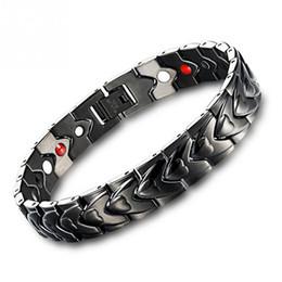 $enCountryForm.capitalKeyWord NZ - Fashion Europe Healing Black Magnet Bracelet for Women Power Care Titanium Men's Health Bracelets Promote Sleep Magnetic Pulsera