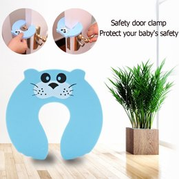 Door Holder Stops UK - 1Pcs Kids Baby Cartoon Animal Jammers Stop Door for Children Guards Door Stopper Holder lock Safety Finger Protector