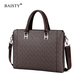gray handbags NZ - BAISTY Brand 2018 New Design Men Casual Briefcase Business Shoulder Bag PU Messenger Bags High Quality Computer Laptop Handbag